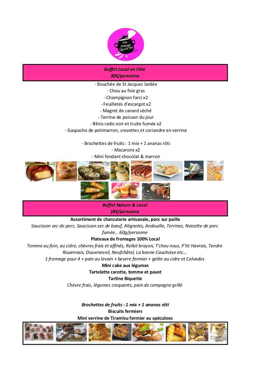 Carte buffet jour de l 39 an par peachy punch fichier pdf - Idee buffet jour de l an ...