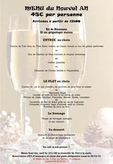 menu du nouvel an