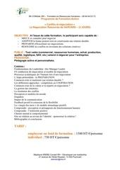 programme negociation 2