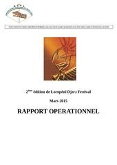 rapport 2e edition de loropeni djoro festival 2015