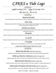 cake menu 2015