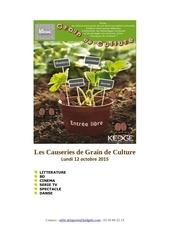 les causeries grain de culture 2015 10 12