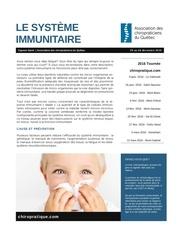 systeme immunitaire et chiropratique