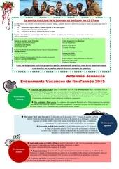 programmation antennes jeunesse vacances de fin dannee 2015