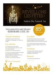 leaflet menu jour de l an