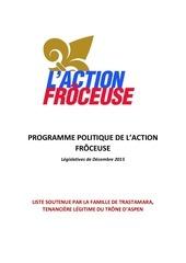 programme royaliste