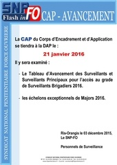 flash info cap avancement