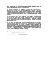 research assistant position in valladolid spain