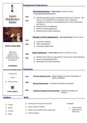 Fichier PDF cv dorian costecalde