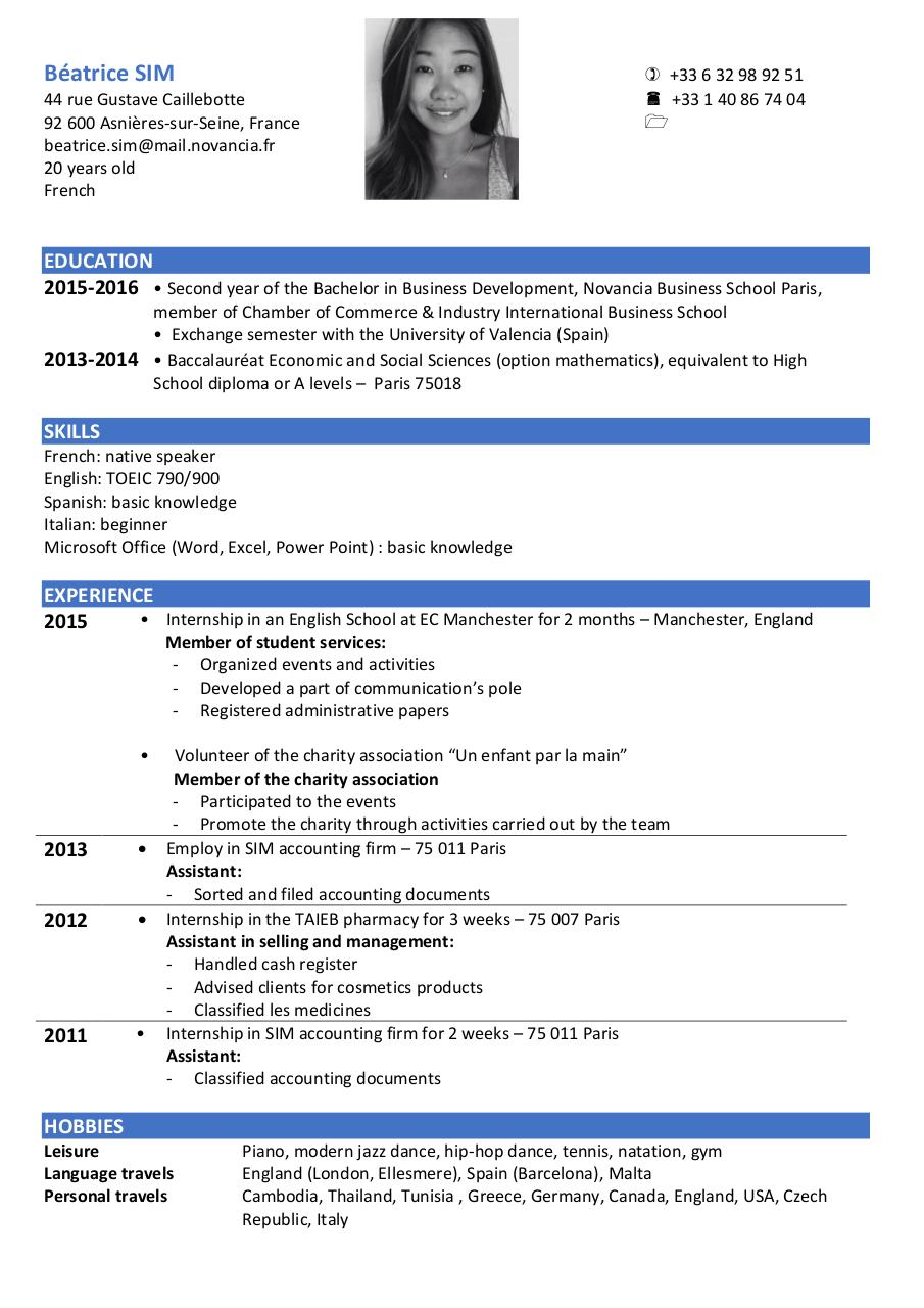 Facebook Resume Template  GreenjobsauthorityCom