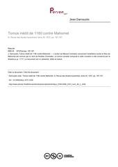 tomos contre mahomet