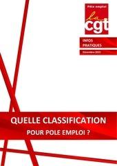 2015 12 15 quelle classification pour po le emploi 2