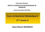 cours bioch metab ii chap ii 3e a lf isbm 2015 2016