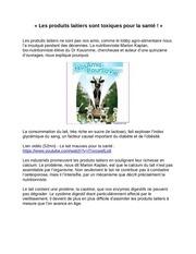 Fichier PDF lait