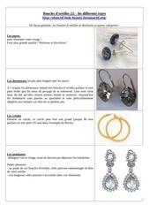boucles d oreilles 1 les differents types