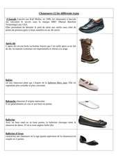 chaussures 1 les differents types