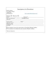inscription a la newsletter