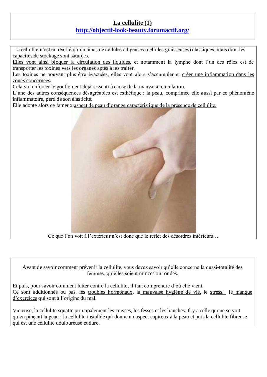 La cellulite (1) par Lili - Fichier PDF