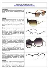 lunettes 1 les differents types