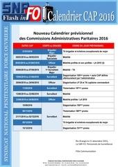 calendrier des cap 2016