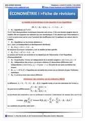 Econometrie 1fiche de revision