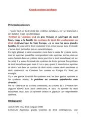 cours complets grands systemes juridiques