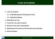 l eau et la plante 1