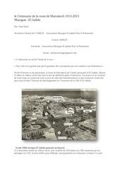 le centenaire de la route de marrakech 1913 1