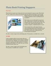 Fichier PDF photo book printing singapore