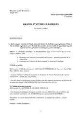 syllabus grands systemes juridiques 2015 2016 2