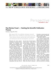 peer review fraud hacking the scientific publication