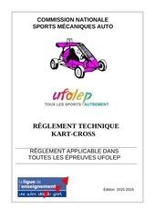 reglement kart cross 2015 2016