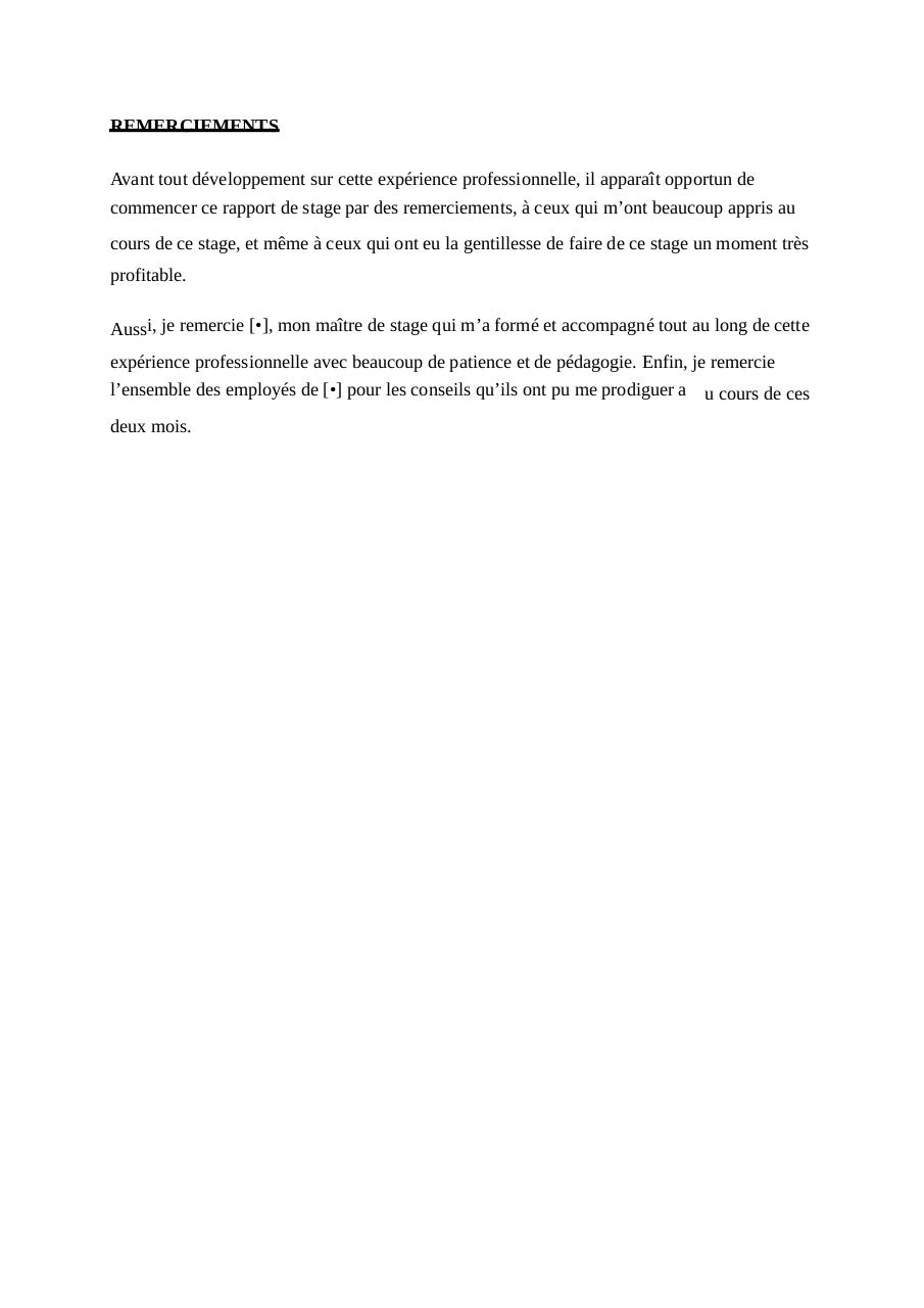 Rapport Stage Exemple Fichier Pdf