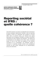 reporting societal et ifrs