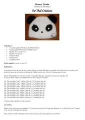 bonnet panda 14 16ans
