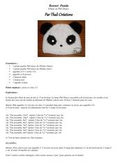 bonnet panda 6 8ans