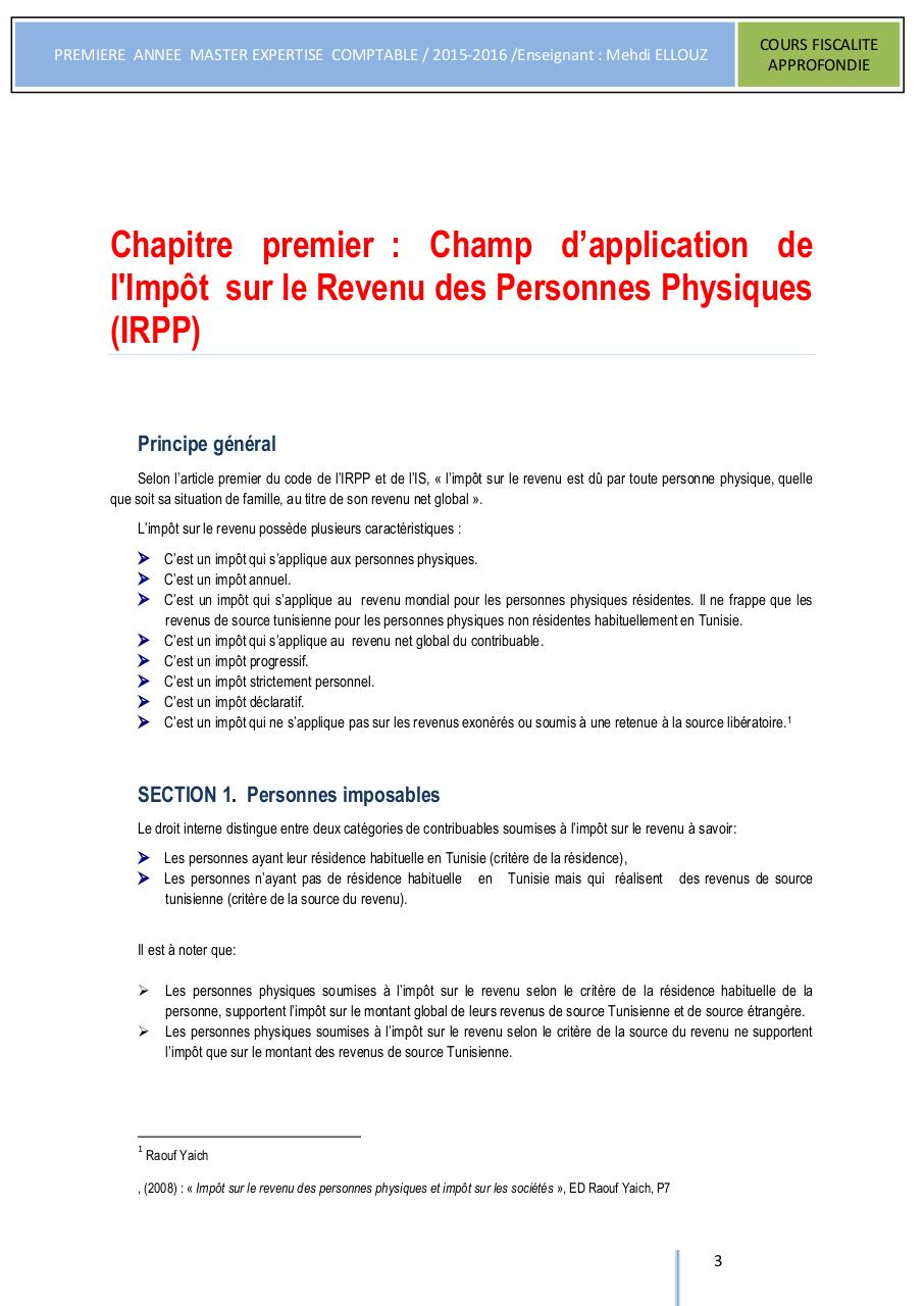 COURS FISCALITE APPROFONDIE ISCAE 2015.pdf - page 4/235