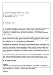 deontologie de l officier de police