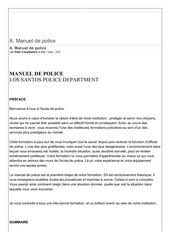 manuel de police