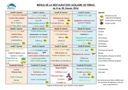 menus 4 au 29 janvier 2016