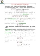 physique 4 noyau masse energie