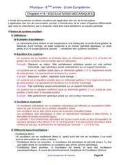 s6 chapitre 6 oscillations mecaniques