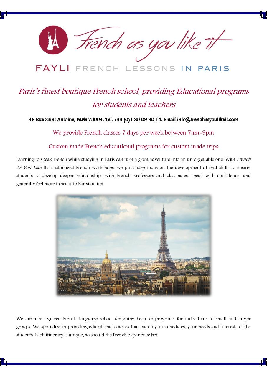 FAYLI French classes in central Paris.pdf - page 1/6