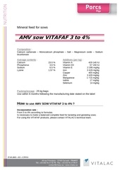 mineral feed sow vitafaf 3 to 4 gb