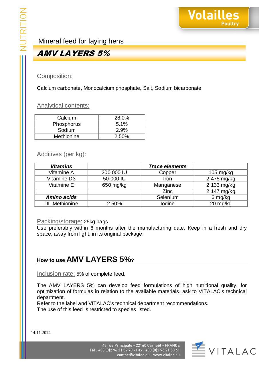 Aperçu du document Premix Layers 5%.pdf - page 1/1