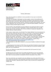 Fichier PDF courrier de bienvenue