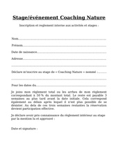 inscription reglement