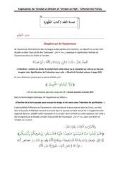 chapitre sur at tayammum