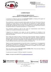 communique de presse colloque roms
