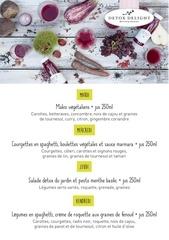menus detox